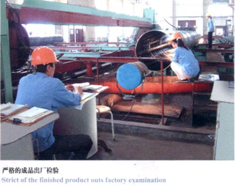 严格的成品出厂检验-螺旋钢管制造主要工艺流程及特点