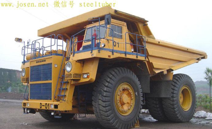 首钢迁安水厂铁矿使用的130吨电传动1600马力矿车,有6米多高.jpg