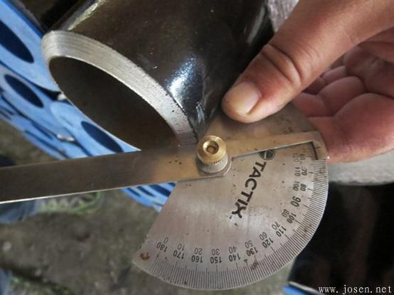 钢管管端坡口测量